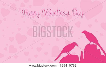 Happy Valentine Day with bird vector collection stock