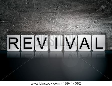 Revival Tiled Letters Concept And Theme
