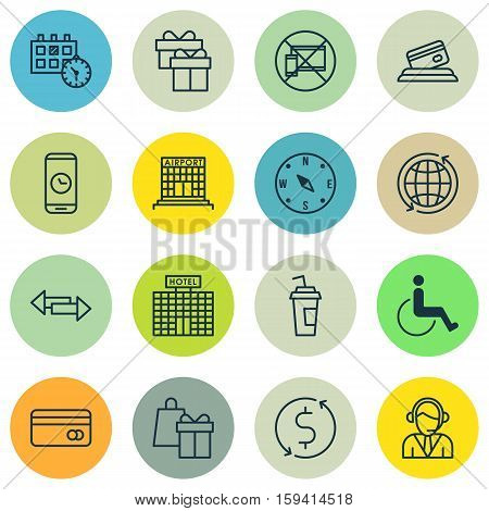 Set Of Transportation Icons On Appointment, World And Present Topics. Editable Vector Illustration. Includes World, Time, Transfer And More Vector Icons.