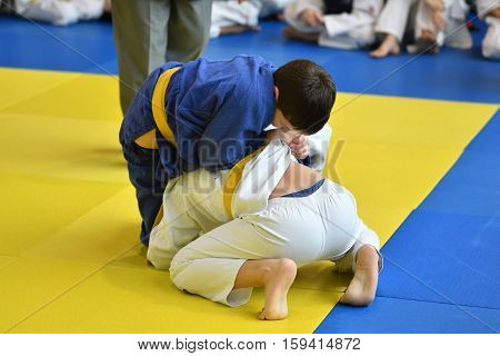 Orenburg, Russia - 05 November 2016: Boys Compete In Judo