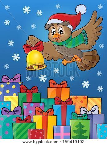 Christmas owl theme image 6 - eps10 vector illustration.
