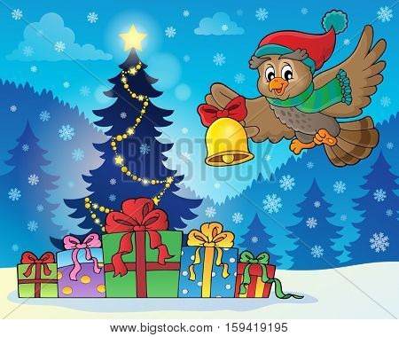 Christmas owl theme image 7 - eps10 vector illustration.