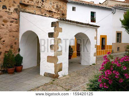 Caceres juderia Ermita saint Antonio in Spain Jewish quarter hermitage image shot from the public floor