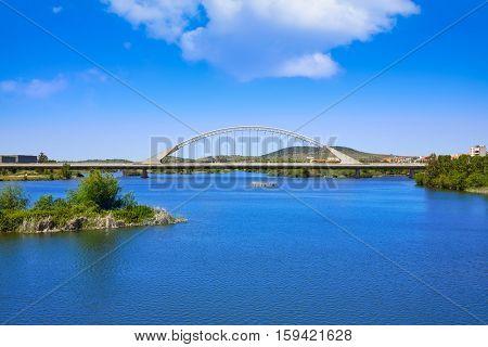 Merida in Spain Lusitania bridge over Guadiana river in Extremadura