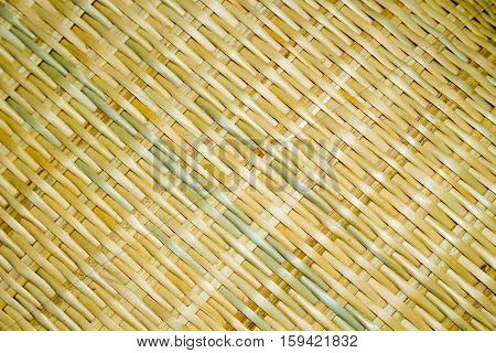 Thai Asian Wickerwork interlace abstract wall background