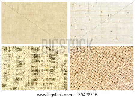 Natural  Line And Hemp Fibre Texture For The Background, Sackcloth Collection 4.