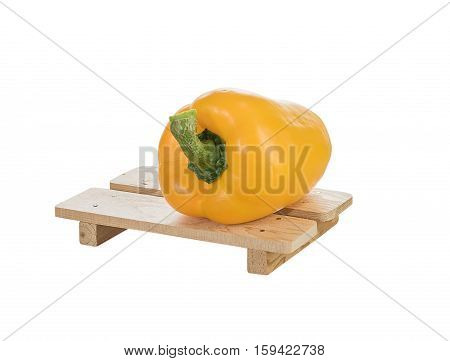 Fresh Yellow Bell Peppers On White