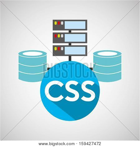 css language data base storage vector illustration eps 10