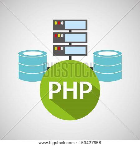 php language data base storage vector illustration eps 10