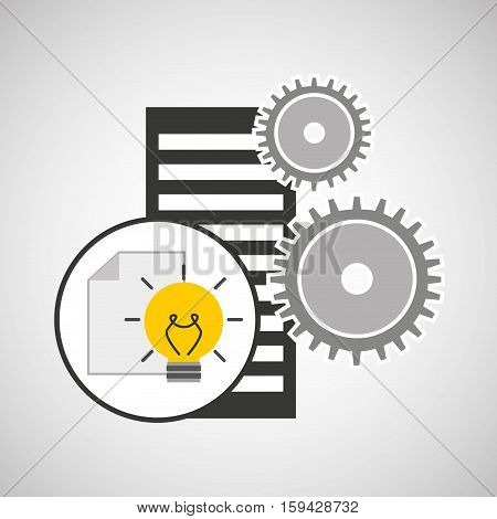 database setting document idea creativity vector illustration eps 10