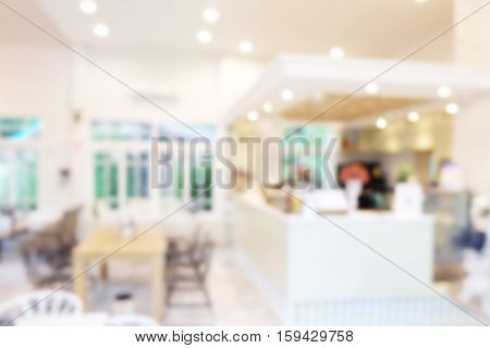 Abstract blurred of restaurant shop pastel background. Party happy with friends at night. Blurry fun dining room. Blur circle bokeh. Counter cafes and coffee service. Food and Beverage Modern