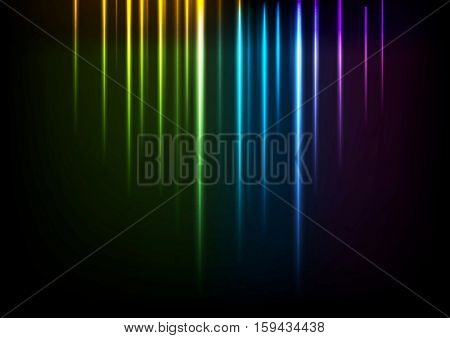 Shiny colorful neon iridescent light background