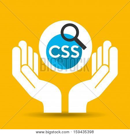hand optimization technology css language web vector illustration eps 10