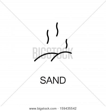 Sand flat icon. Single high quality outline symbol of summer for web design or mobile app. Thin line signs of sand for design logo, visit card, etc. Outline pictogram of sand