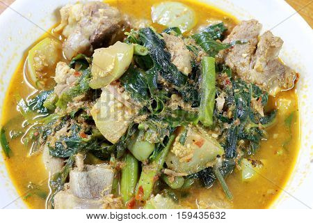 Chicken And Mixed Vegetables With A Northern Spices, Northern Style Curry,thai Northern Style Food,s