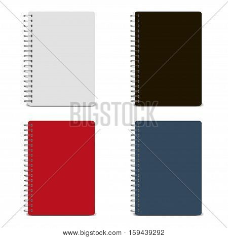 Vector spiral notepad, notebook. Notebook mockup, with place for your image