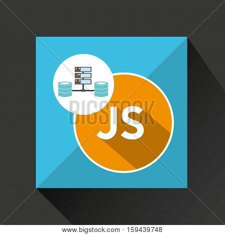 js language data base storage vector illustration eps 10
