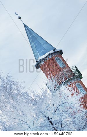 Photo Of Brick Mosque In The Tyumen Region, Russia, Winter La
