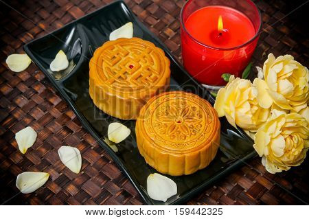 Chinese Moon cakefood for Chinese mid-autumn festival