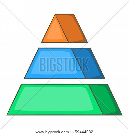 Stacked pyramid icon. Cartoon illustration of stacked pyramid vector icon for web