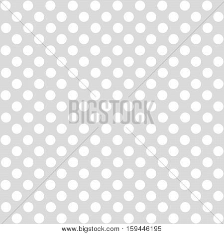 Seamless dotted background light grey and white