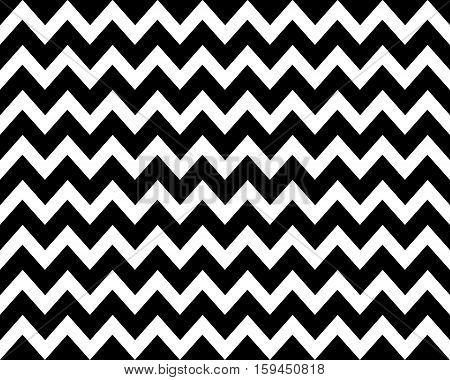 Vintage Zigzag pattern background black and white