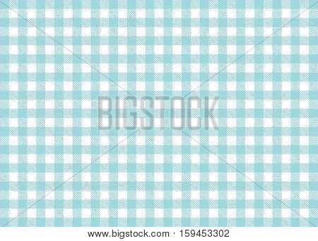 Traditional illustration of tablecloth background - Light Blue White checks