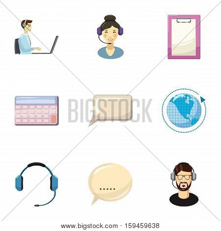 Technical consultation icons set. Cartoon illustration of 9 technical consultation vector icons for web