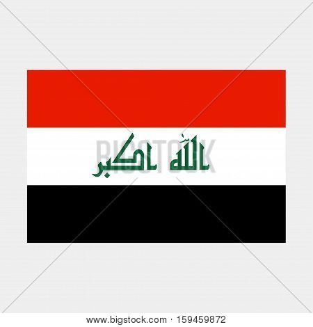 Flag of Iraq icon on a grey background
