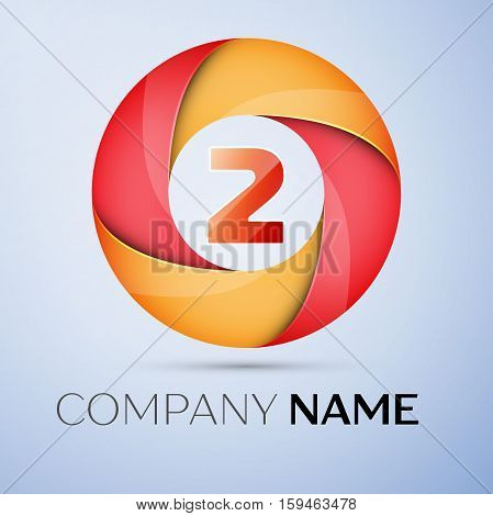 Two number colorful logo in the circle. Vector template for your design