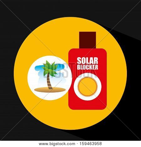 tropical vacation beach solar blocker icon vector illustration eps 10