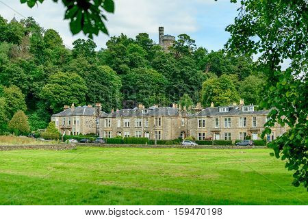 Royal Gardens residential street in Stirling Scotland.