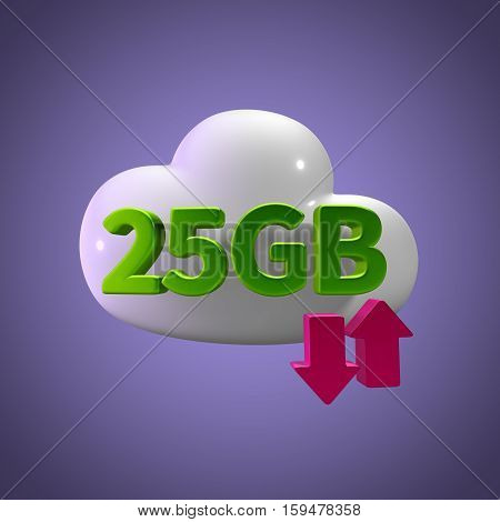 3d rendering cloud download upload 25  gb capacity