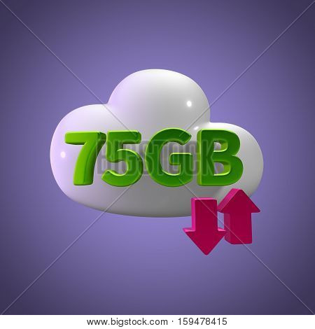3d rendering cloud download upload 75  gb capacity