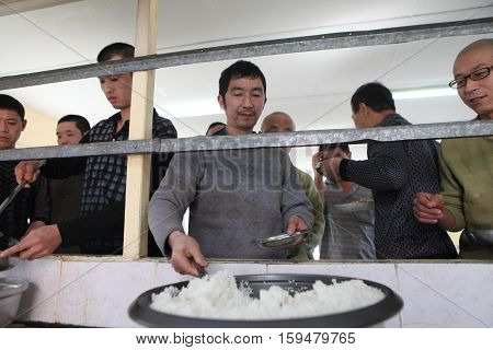 BARTIN,TURKEY-APRIL 5 : Unidentified Chinese mine workers began working in Turkey on April 5, 2014 in Bartin,Turkey