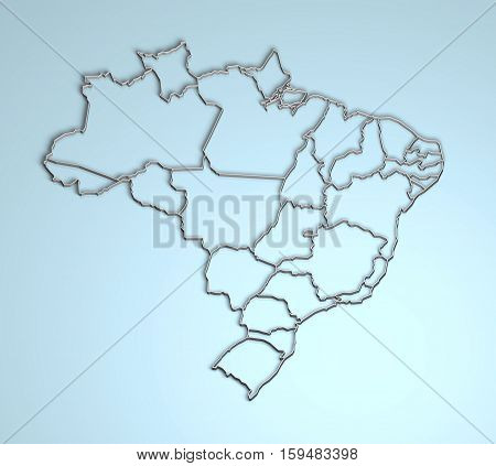 Brazil 3D shape illustration geographical location geography