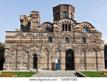 The Church of Christ Pantocrator in Nessebar, Bulgaria. Ancient city of Nessebar is a UNESCO world heritage site.