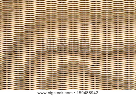 Bamboo brown straw mat as abstract texture background composition