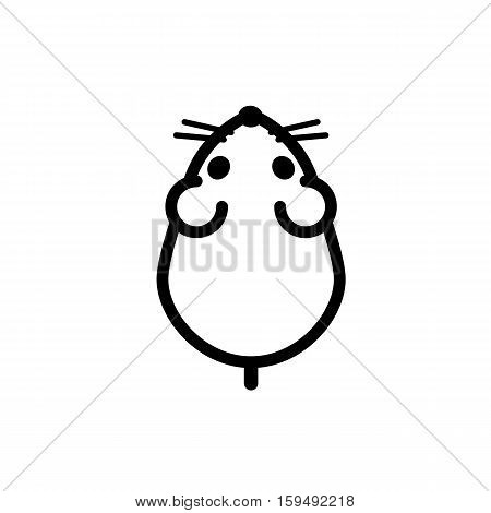 Stylish icon for web and print. Marking a feed a pet rodent hamster mouse small