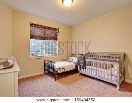 Kids Bedroom In Warm Pastel Colors