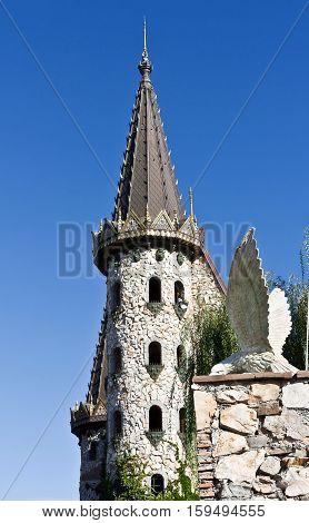 The castle of Ravadinovo -Beautiful old fairy-tale castle near Sozopol, Bulgaria.