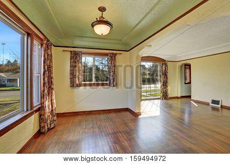Empty Room Interior Of Tudor Style Home