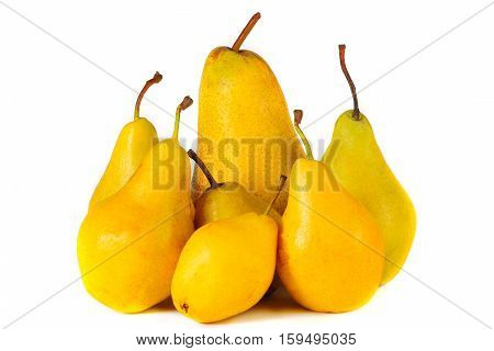 a yellow pear isolated on white background