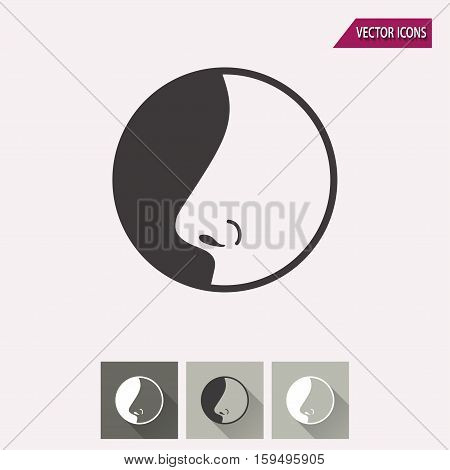Nose vector icon. Illustration isolated for graphic and web design.