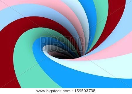 blue black hole multicolored background  3d illustration