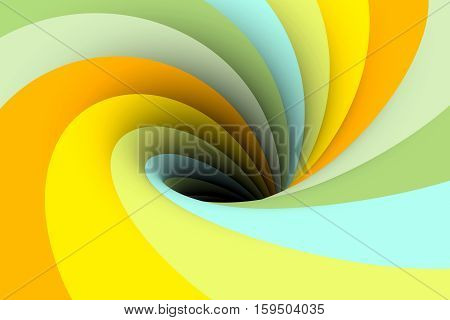 black hole yellow multicolored background 3d illustration