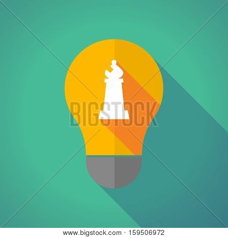 Long Shadow Bulb With A Bishop    Chess Figure