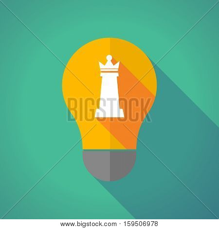 Long Shadow Bulb With A  Queen   Chess Figure