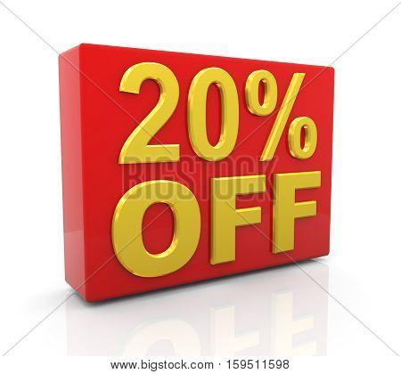 3D 20 Percent Off