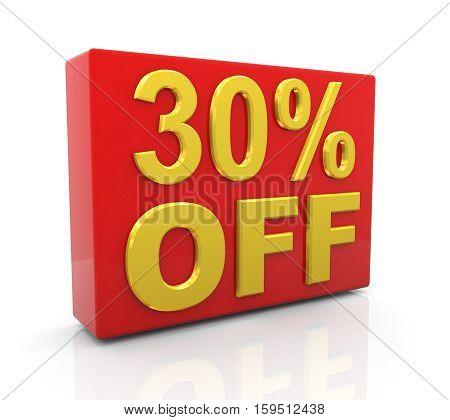 3D 30 Percent Off